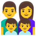 Family: Man, Woman, Boy, Boy on Google Android 11.0 December 2020 Feature Drop
