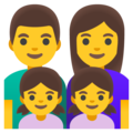 Family: Man, Woman, Girl, Girl on Google Android 11.0 December 2020 Feature Drop