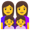 Family: Woman, Woman, Girl, Girl on Google Android 11.0 December 2020 Feature Drop