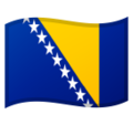 Flag: Bosnia & Herzegovina on Google Android 11.0 December 2020 Feature Drop