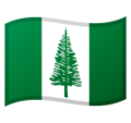 Flag: Norfolk Island on Google Android 11.0 December 2020 Feature Drop