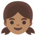 Girl: Medium Skin Tone on Google Android 11.0 December 2020 Feature Drop