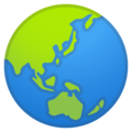 Globe Showing Asia-Australia on Google Android 11.0 December 2020 Feature Drop