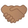 Handshake: Medium Skin Tone on Google Android 11.0 December 2020 Feature Drop