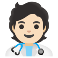 Health Worker: Light Skin Tone on Google Android 11.0 December 2020 Feature Drop