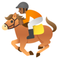 Horse Racing: Medium-Dark Skin Tone on Google Android 11.0 December 2020 Feature Drop