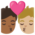 Kiss: Person, Person, Medium-Dark Skin Tone, Medium-Light Skin Tone on Google Android 11.0 December 2020 Feature Drop