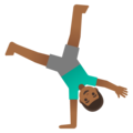 Man Cartwheeling: Medium-Dark Skin Tone on Google Android 11.0 December 2020 Feature Drop