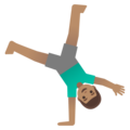 Man Cartwheeling: Medium Skin Tone on Google Android 11.0 December 2020 Feature Drop