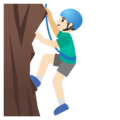 Man Climbing: Light Skin Tone on Google Android 11.0 December 2020 Feature Drop