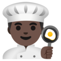 Man Cook: Dark Skin Tone on Google Android 11.0 December 2020 Feature Drop