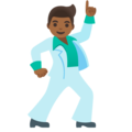 Man Dancing: Medium-Dark Skin Tone on Google Android 11.0 December 2020 Feature Drop