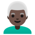 Man: Dark Skin Tone, White Hair on Google Android 11.0 December 2020 Feature Drop