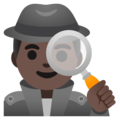 Man Detective: Dark Skin Tone on Google Android 11.0 December 2020 Feature Drop