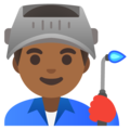 Man Factory Worker: Medium-Dark Skin Tone on Google Android 11.0 December 2020 Feature Drop