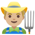 Man Farmer: Medium-Light Skin Tone on Google Android 11.0 December 2020 Feature Drop