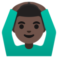 Man Gesturing OK: Dark Skin Tone on Google Android 11.0 December 2020 Feature Drop