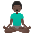 Man in Lotus Position: Dark Skin Tone on Google Android 11.0 December 2020 Feature Drop
