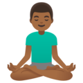 Man in Lotus Position: Medium-Dark Skin Tone on Google Android 11.0 December 2020 Feature Drop