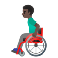 Man in Manual Wheelchair: Dark Skin Tone on Google Android 11.0 December 2020 Feature Drop