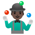 Man Juggling: Dark Skin Tone on Google Android 11.0 December 2020 Feature Drop