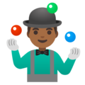 Man Juggling: Medium-Dark Skin Tone on Google Android 11.0 December 2020 Feature Drop