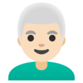 Man: Light Skin Tone, White Hair on Google Android 11.0 December 2020 Feature Drop