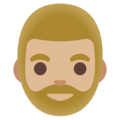 Man: Medium-Light Skin Tone, Beard on Google Android 11.0 December 2020 Feature Drop