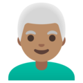 Man: Medium Skin Tone, White Hair on Google Android 11.0 December 2020 Feature Drop