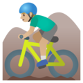 Man Mountain Biking: Medium-Light Skin Tone on Google Android 11.0 December 2020 Feature Drop
