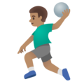 Man Playing Handball: Medium Skin Tone on Google Android 11.0 December 2020 Feature Drop