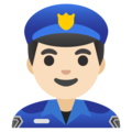 Man Police Officer: Light Skin Tone on Google Android 11.0 December 2020 Feature Drop