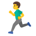 Man Running on Google Android 11.0 December 2020 Feature Drop