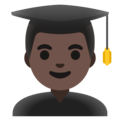Man Student: Dark Skin Tone on Google Android 11.0 December 2020 Feature Drop