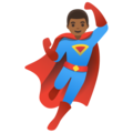 Man Superhero: Medium-Dark Skin Tone on Google Android 11.0 December 2020 Feature Drop