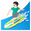 Man Surfing: Light Skin Tone on Google Android 11.0 December 2020 Feature Drop