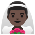 Man with Veil: Dark Skin Tone on Google Android 11.0 December 2020 Feature Drop
