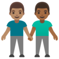 Men Holding Hands: Medium Skin Tone, Medium-Dark Skin Tone on Google Android 11.0 December 2020 Feature Drop