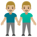 Men Holding Hands: Medium-Light Skin Tone on Google Android 11.0 December 2020 Feature Drop