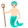 Merman: Light Skin Tone on Google Android 11.0 December 2020 Feature Drop