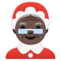 Mrs. Claus: Dark Skin Tone on Google Android 11.0 December 2020 Feature Drop