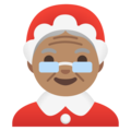 Mrs. Claus: Medium Skin Tone on Google Android 11.0 December 2020 Feature Drop