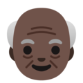 Old Man: Dark Skin Tone on Google Android 11.0 December 2020 Feature Drop