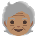 Older Person: Medium Skin Tone on Google Android 11.0 December 2020 Feature Drop