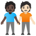 People Holding Hands: Dark Skin Tone, Light Skin Tone on Google Android 11.0 December 2020 Feature Drop