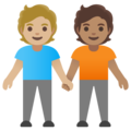People Holding Hands: Medium-Light Skin Tone, Medium Skin Tone on Google Android 11.0 December 2020 Feature Drop