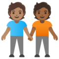 People Holding Hands: Medium Skin Tone, Medium-Dark Skin Tone on Google Android 11.0 December 2020 Feature Drop