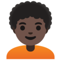 Person: Dark Skin Tone, Curly Hair on Google Android 11.0 December 2020 Feature Drop