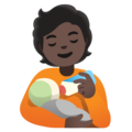 Person Feeding Baby: Dark Skin Tone on Google Android 11.0 December 2020 Feature Drop