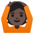Person Gesturing OK: Dark Skin Tone on Google Android 11.0 December 2020 Feature Drop